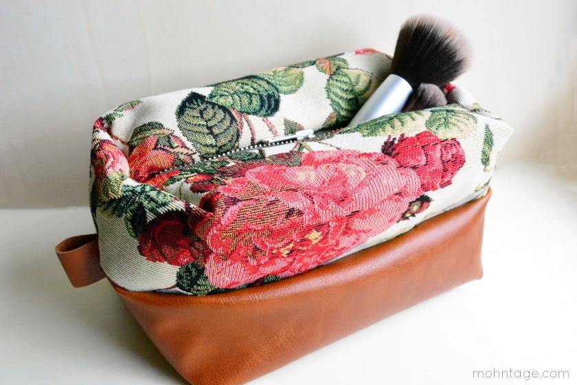 Kosmetiktasche Schnittmuster - Box zipper pouch pattern