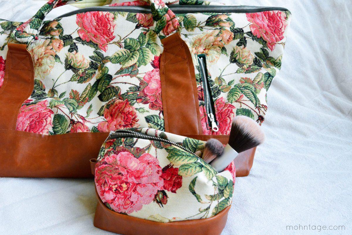 DIY Kosmetiktasche + Schnittmuster und Weekender nähen | Perfekte Begleiter