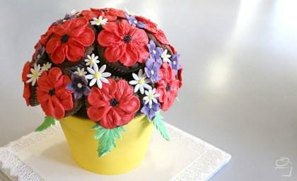 Mohnblumenstrauss_Torte