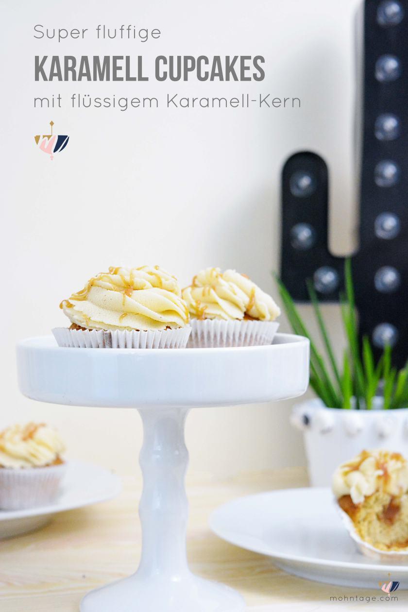 Karamell-Cupcakes-mit-fluessigem-Karamell-Kern-und-Karamell-Cream-Cheese-Frosting-Rezept-Partyfood-Mohntage-Blog-Pinterest