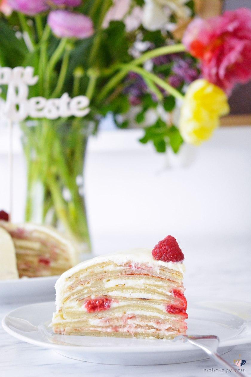 Mille-Crepe-Cake-Ganache-Himbeeren-Rezept-Mohntage-Muttertag-Geschenkidee