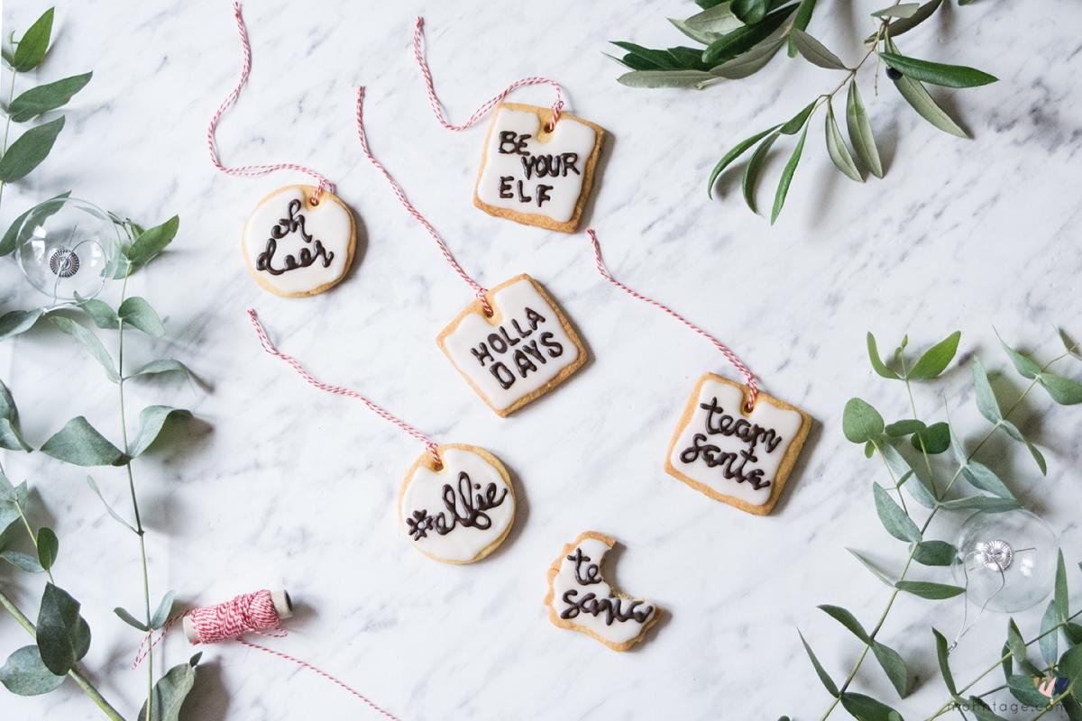 Cookie Lettering - Lustige Weihnachtsplätzchen