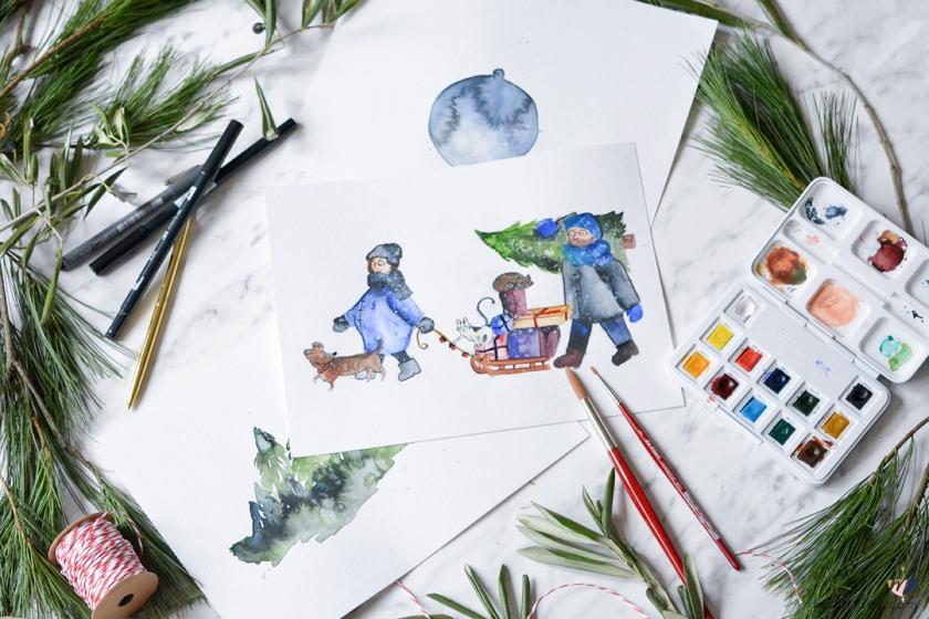 DIY-Aquarell-Weihnachtskarten-Freebie-Download-Mohntage-Blog-Gewinnspiel-3