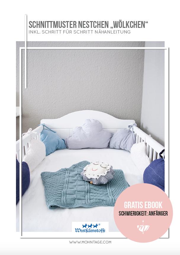 eBook-Schnittmuster-Woelkchen-ein-Nestchen-fuer-das-Babybett-selber-machen